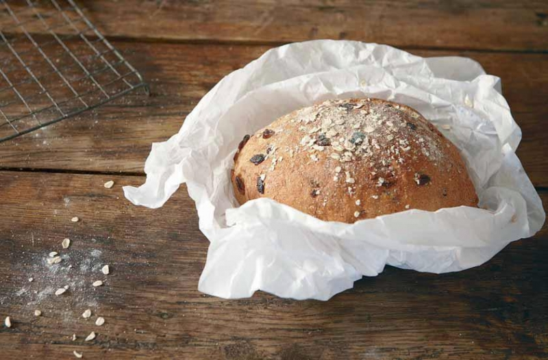 Pecan and cranberry bread
